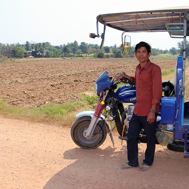 Him Heng with his Tuk Tuk